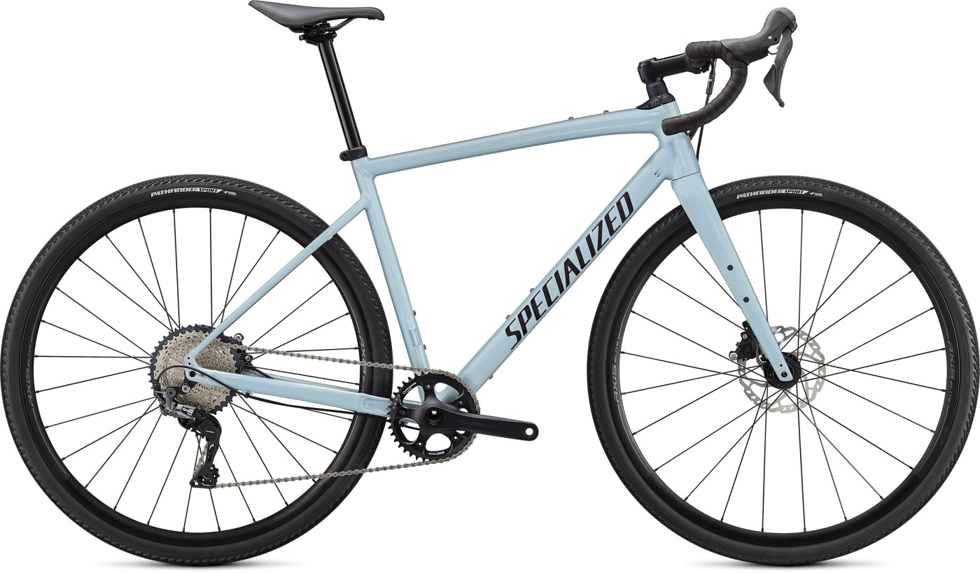 Gravel kolo SPECIALIZED Diverge Comp E5 Gloss Ice Blue/Smoke/Chrome/Clean 2021