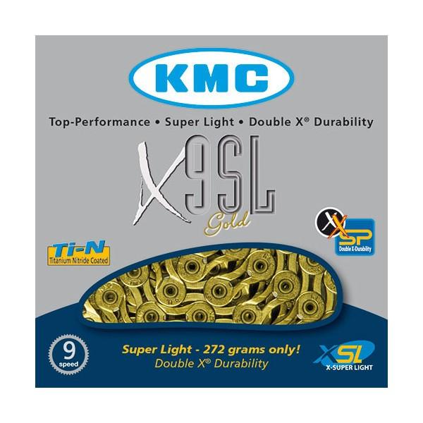 Řetěz KMC X9SL-Ti-N Gold