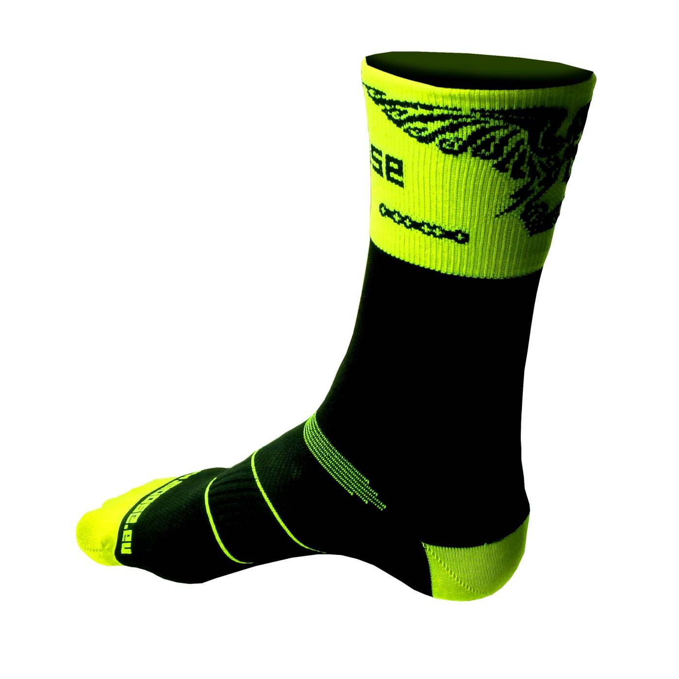 Ponožky Kolokrám Fluo žlutá