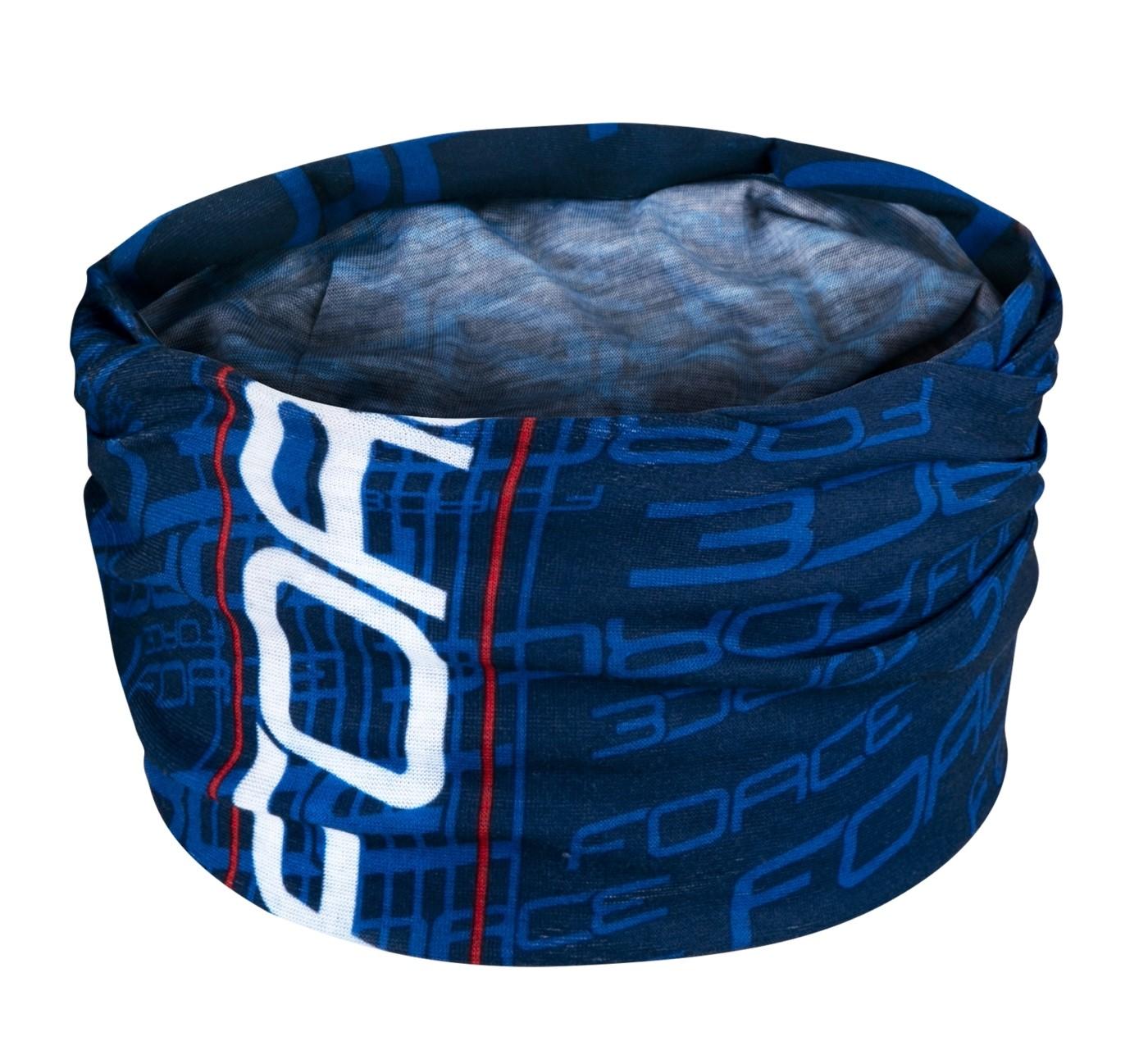 Multifunkční šátek FORCE léto modrý