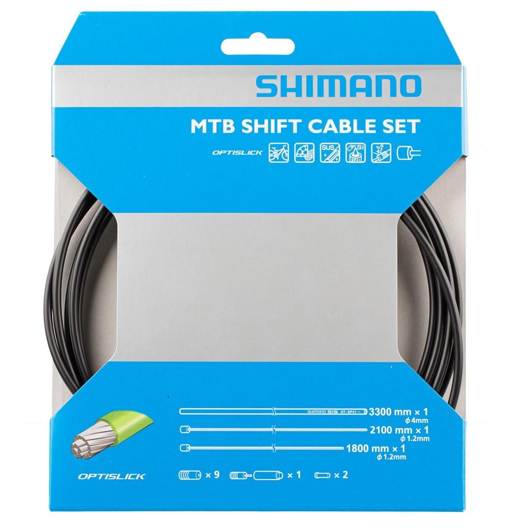 Řadící lanka + bowdeny SHIMANO OPTISLICK