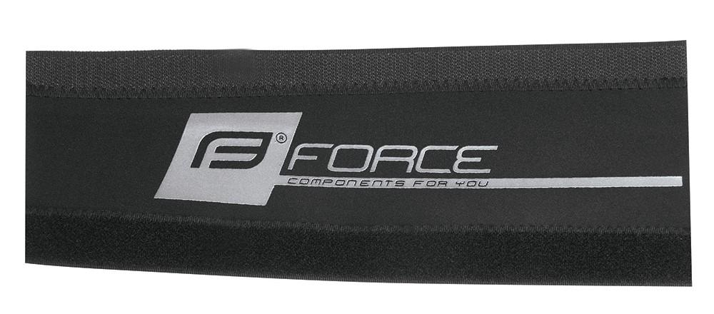 kryt pod řetěz FORCE neoprén 9cm, černo-stříbrný