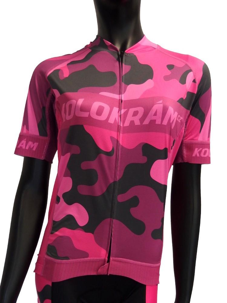 Dres KOLOKRÁM Camo Pink 1